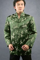 Mandarin Bamboo Brocade Shirt/Jacket (CM)