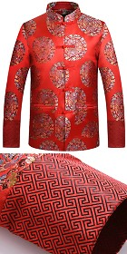 Mandarin Coiled Dragon Brocade Jacket (CM)