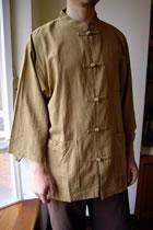 3/4-sleeve Mid-length Mandarin Shirt (CM)