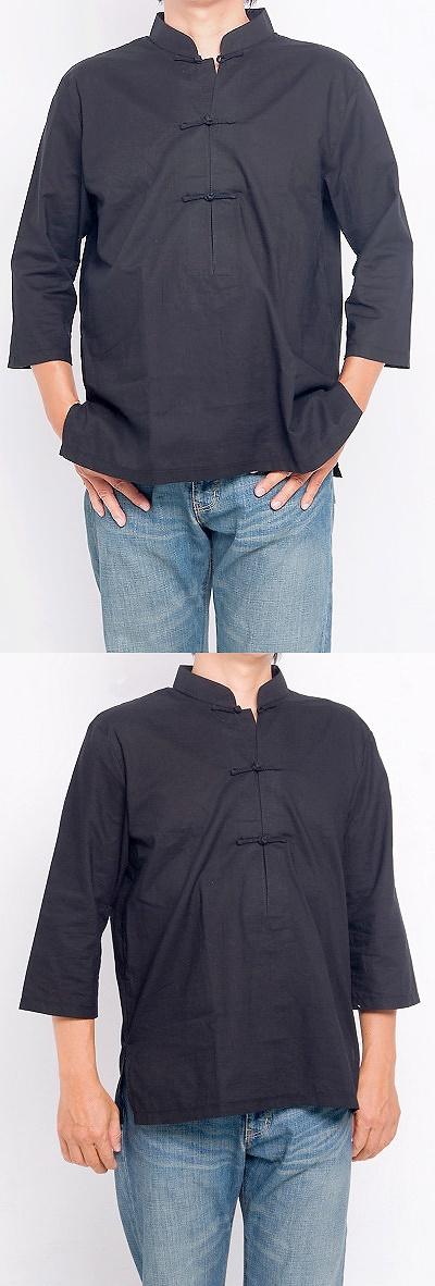 3/4-sleeve Mandarin Pullover (CM)