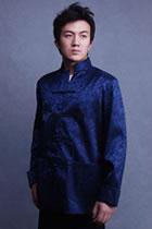 Mandarin Jacquard Jacket w/ Folding Cuffs (CM)