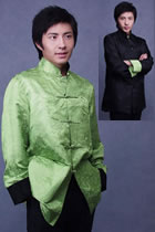 Mandarin Reversible Jacquard Jacket w/ Folding Cuffs (CM)