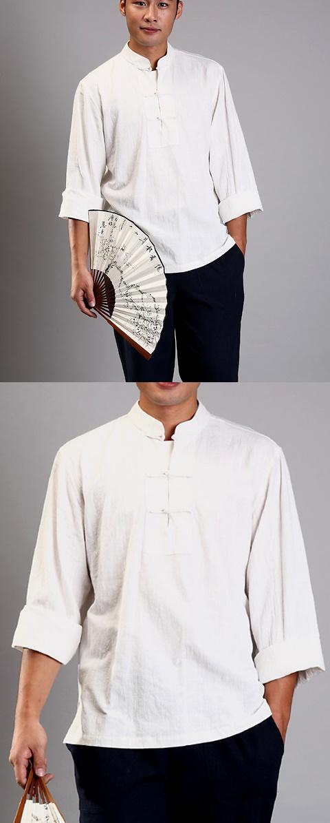 Long-sleeve Mandarin Collar Pullover Duangua (CM)