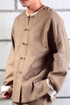 Mandarin Jacket/Shirt w/ White Folding Cuffs (CM)