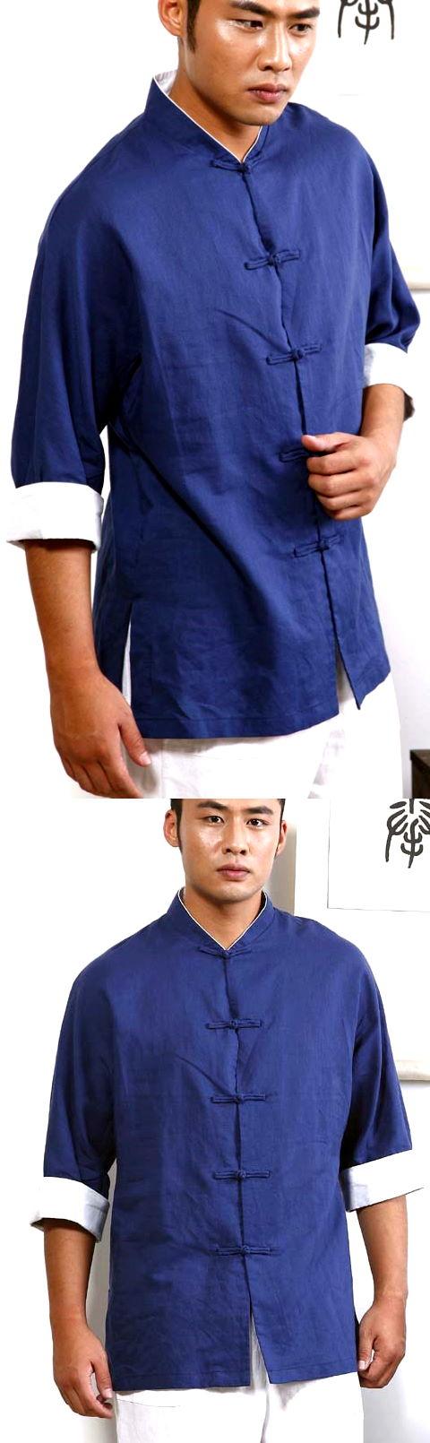 3/4-sleeve Mandarin Jacket/Shirt w/ Folding Cuffs (CM)