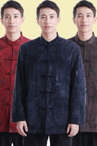 Mandarin Bamboo Patterns Velvet Jacket (RM)