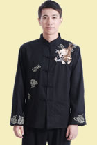 Mandarin Dragon Embroidery Linen Jacket (RM)