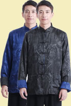 Mandarin Reversible Damask Jacket (RM)