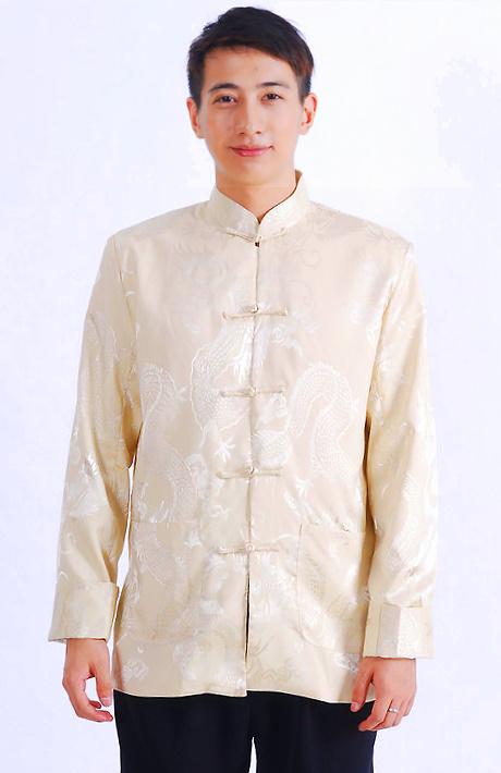 Mandarin Shadow Dragon Jacquard Jacket (RM)
