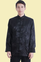 Mandarin Shadow Dragon Jacquard Jacket (RM)