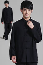 Mandarin Plain Polyester Cotton Shirt (RM)