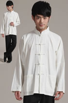Mandarin Plain Cotton Linen Shirt (RM)