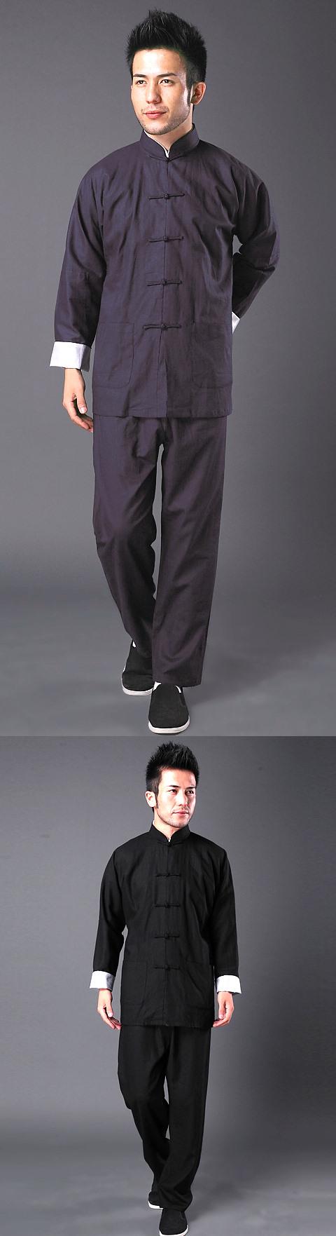 特價品-長袖棉麻短褂連褲