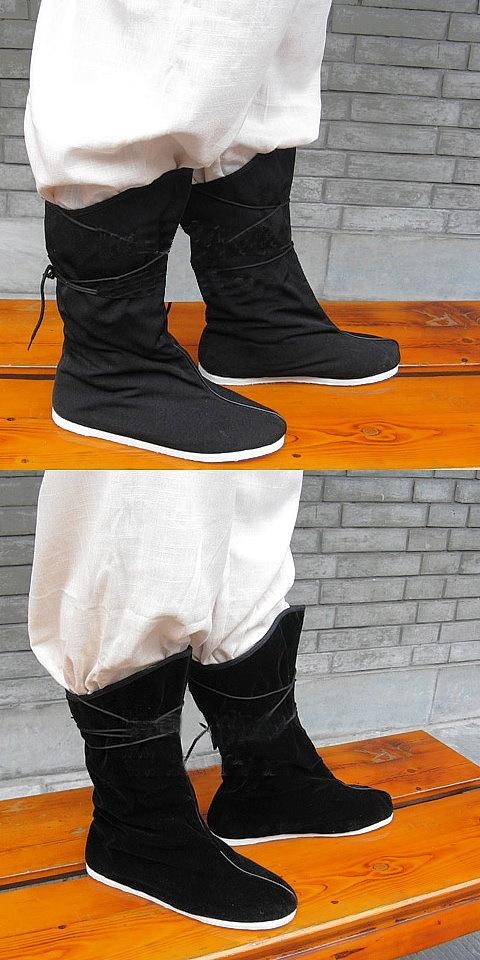 漢式連鞋帶布靴