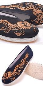 中國風小圓口刺繡布鞋(成品)