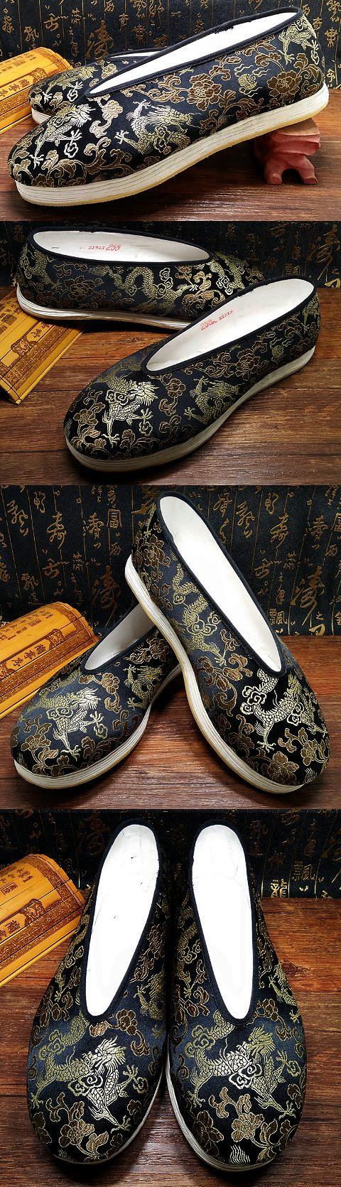 Chinese Round Opening Brocade Cloth Shoes (RM)