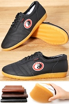 Bargain - Professional Taichi Cowhide Sneakers (Black)