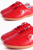 Professional Taichi Cowhide Sneakers (Red)