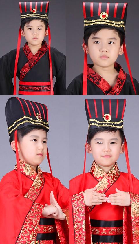 兒童漢朝大臣/士大夫冠帽