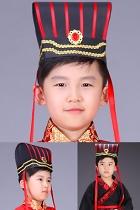 Kids' Han-dynasty Minister/Scholar-bureaucrat Hat