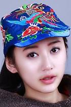 民族風鳳凰刺繡鴨舌帽子