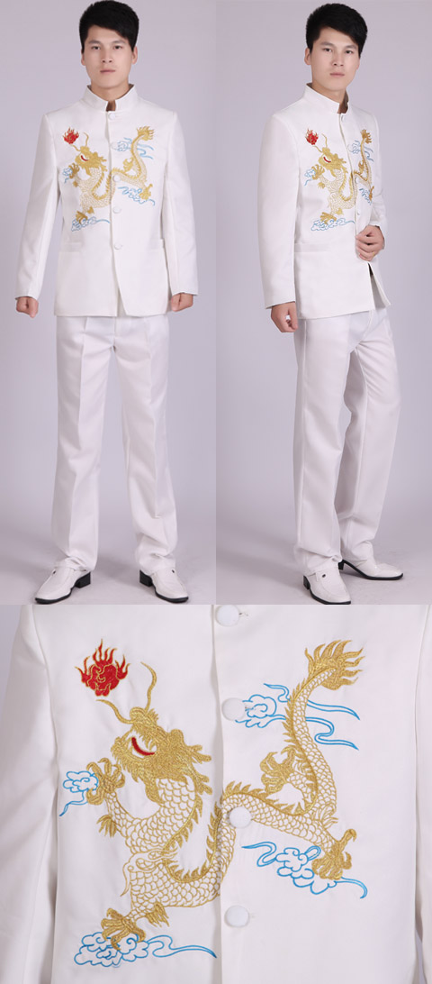Modernised Mao Suit w/ Color Dragon Embroidery (RM)