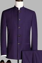 Modernised Snug Fit Mao Suit - Dk Purple (RM)