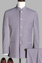 Modernised Snug Fit Mao Suit - Grey (RM)