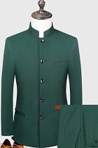 Modernised Snug Fit Mao Suit - Olive (RM)