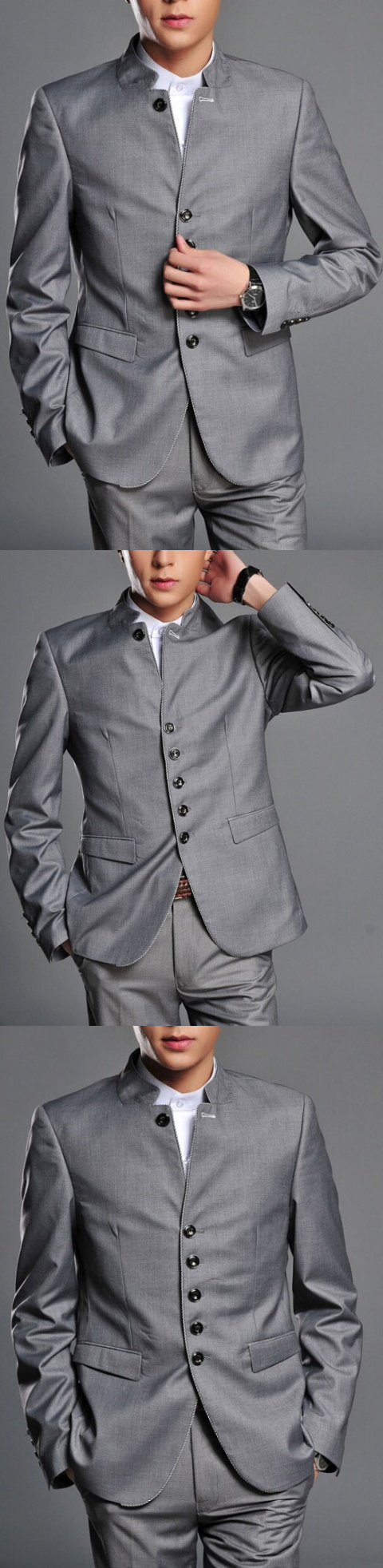 Modernised Snug Fit Chic Mao Suit (RM)