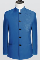 Modernised Snug Fit Mao Suit w/ Big Dragon Embroidery (RM)