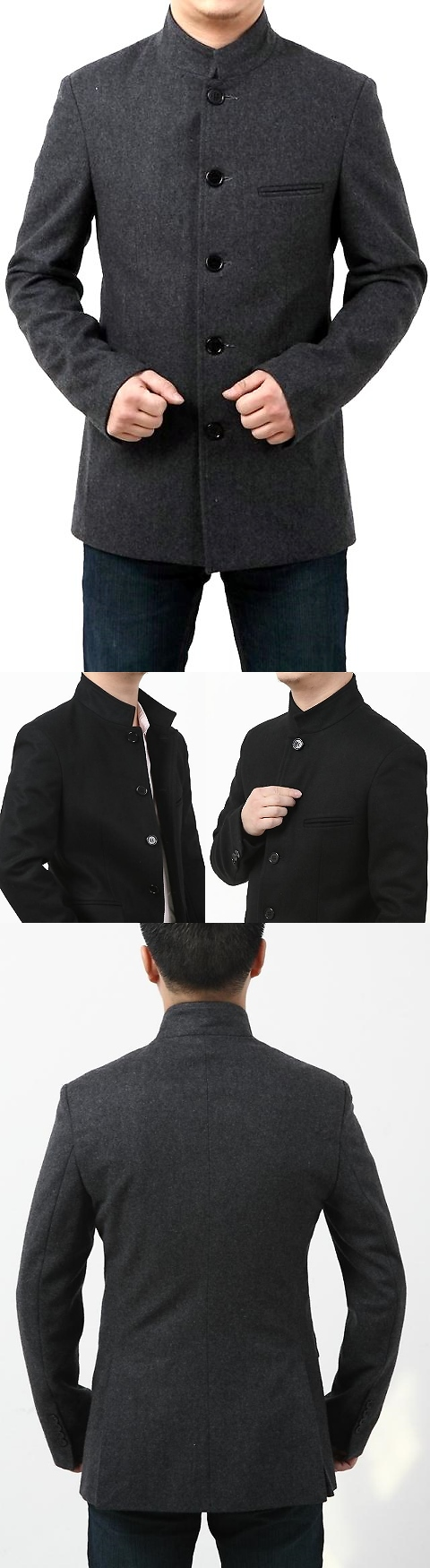 Modernised Mao Jacket in Heavy Wool fabric (CM)