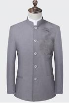 Modernised Snug Fit Mao Jacket w/ Big Dragon Embroidery (RM)