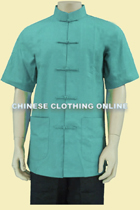 Mandarin Collar Cotton Short-sleeve Underwear (CM)