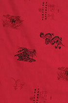 Fabric - Calligraphy & Dragon Polyester/Linen