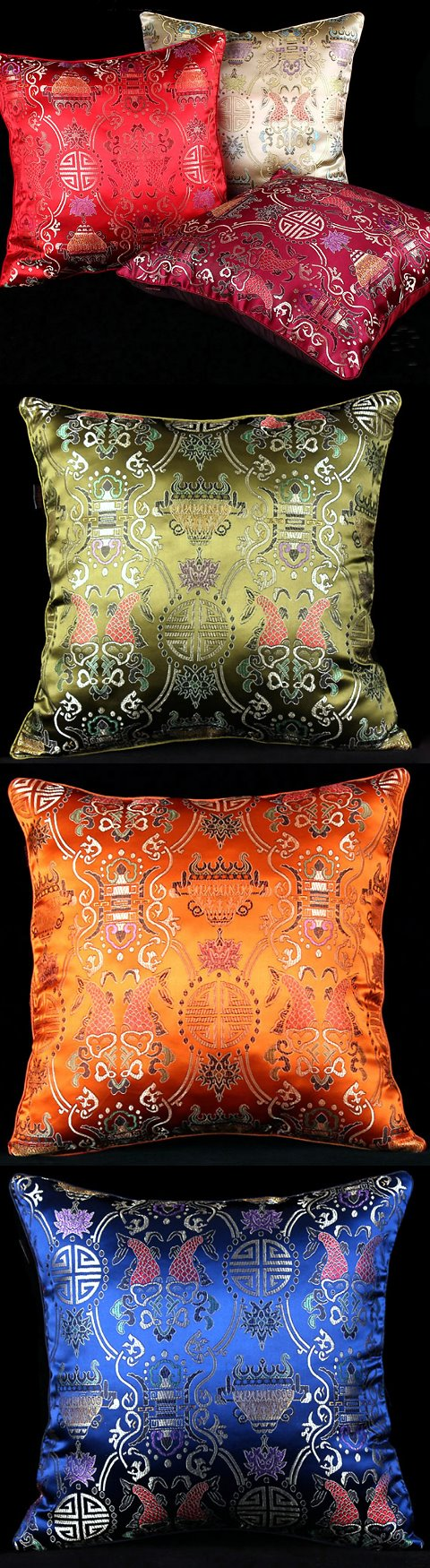 中國風情刺繡墊子套