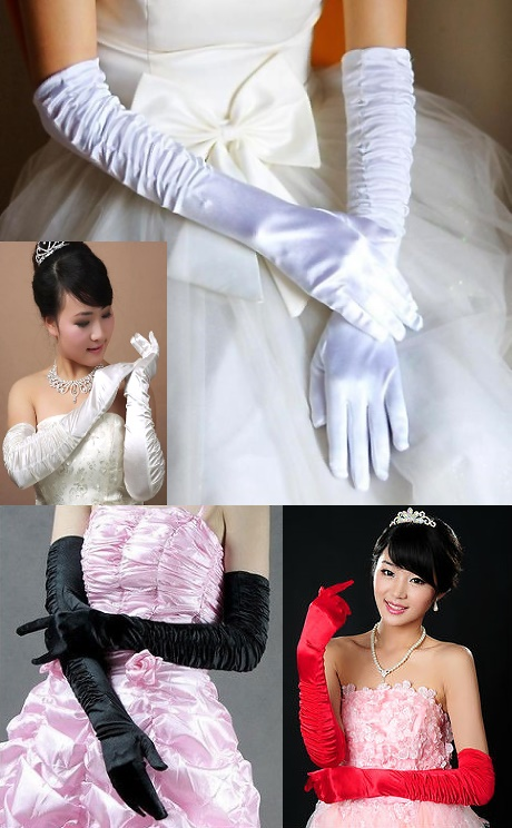 Women Extra-long Gloves (Multi-color)