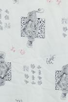 面料-猛虎印花棉綢