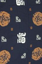 面料-團龍福字棉綢