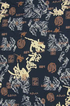 Fabric - Flying Dragon and Dancing Phoenix Rayon