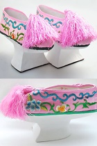 Stage Footwears - Gege Embroidery Shoes with Saucer Sole