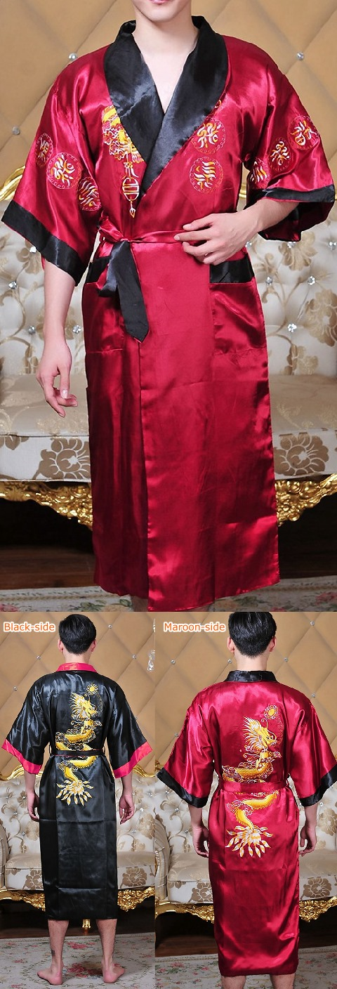 Two-sided Embroidery Robe (RM)