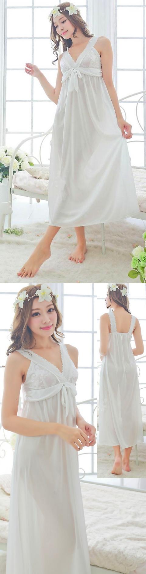 Silky Long Slip Dress Sleepwear (RM)