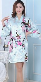 Silky Short Robe - Light Blue (RM)
