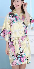 人絲短睡袍(成衣)