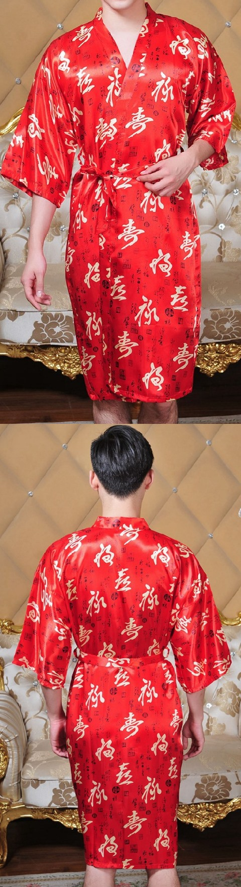 Longevity Calligraphy Brocade Robe (RM)