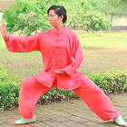 Professional Taichi Kungfu Uniform with Pants - Cotton/Silk - Hot Pink (RM)