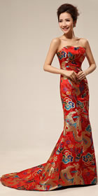 Bare-shoulders Dragon Robe Prom Dress (RM)