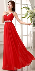 Sleeveless Long-length Prom Dress (RM)