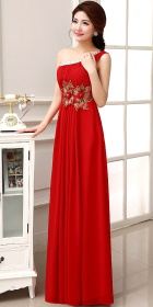One-shoulder Long-length Prom Dress (RM)